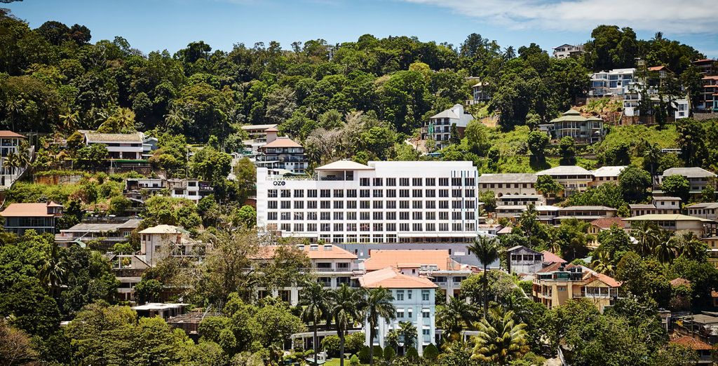 Stay at upscale properties along the way [OZO Kandy pictured]
