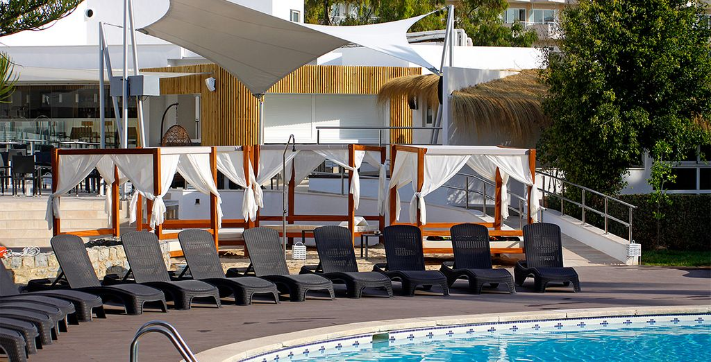 The hotel offers an outdoor swimming pool to cool off on hot days
