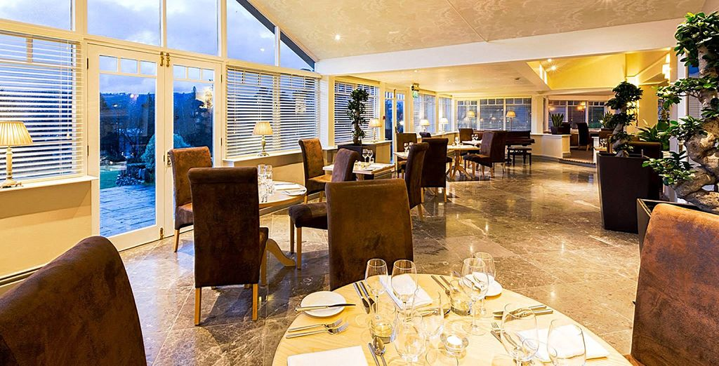 Tuck into award-winning food with unrivalled views of Lake Windermere