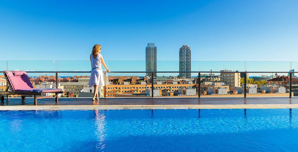 Discover the Skyline Terrace at H10 Marina Barcelona