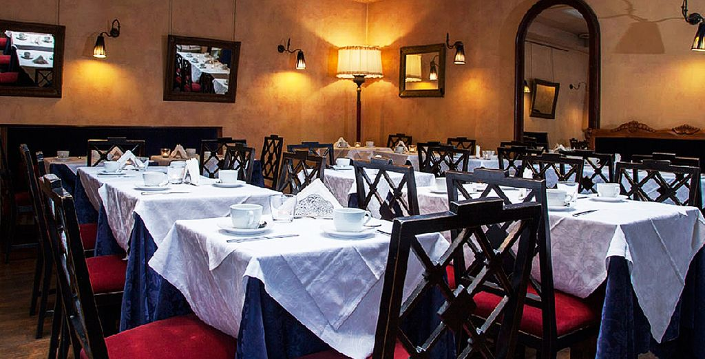 And tuck into an evening meal amongst rustic decor