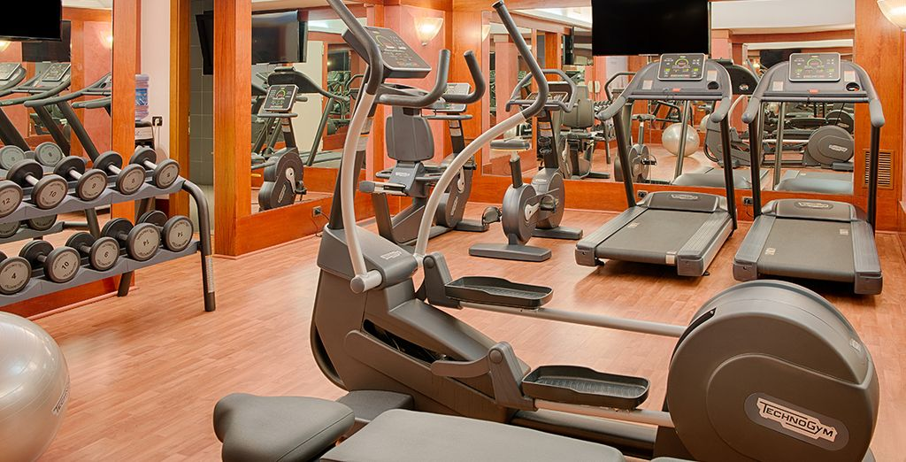 Or keep active at the well equipped fitness centre