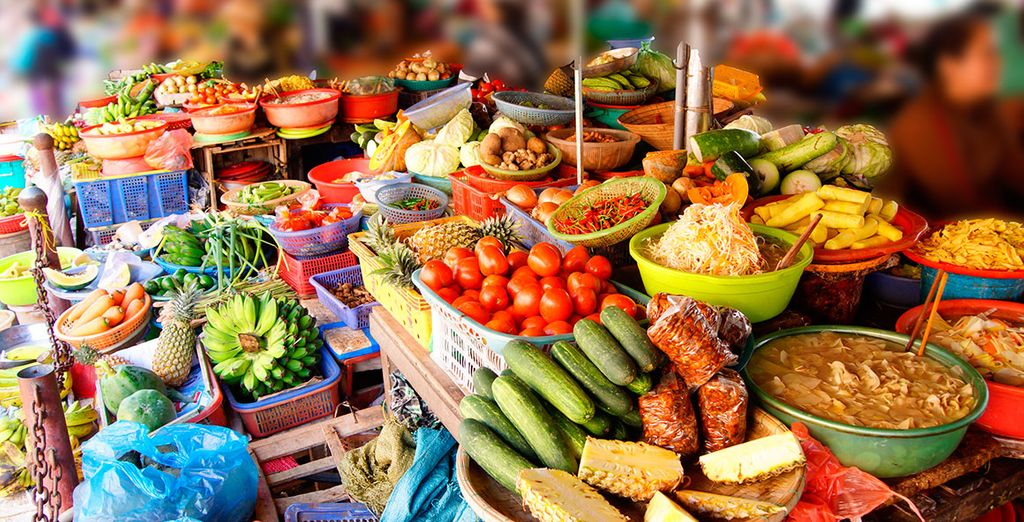 Mingle in village life at local food markets
