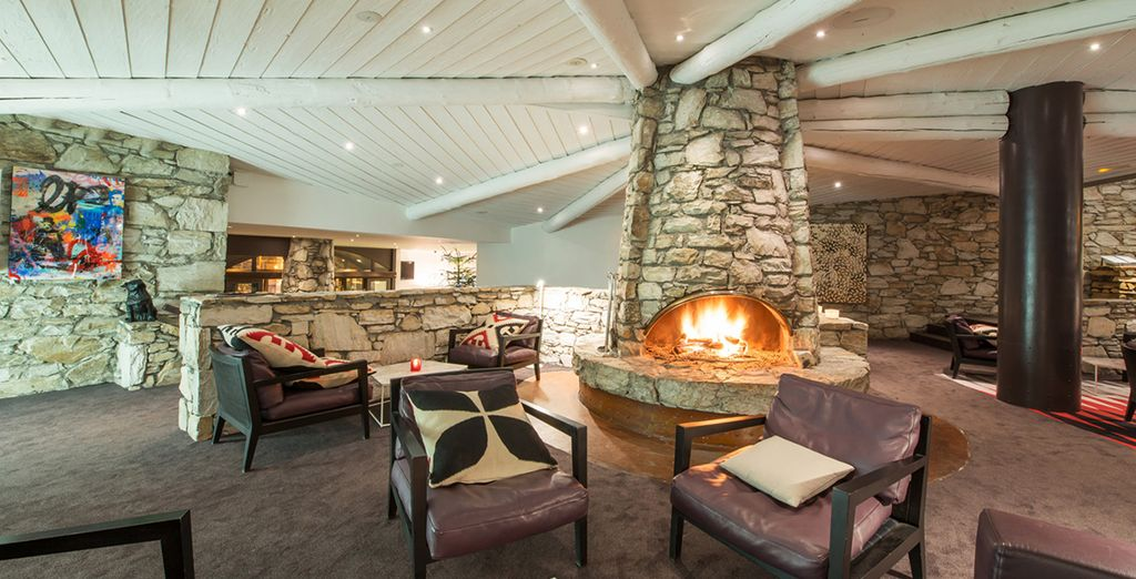 Return to the hotel and cosy up in front of the fire