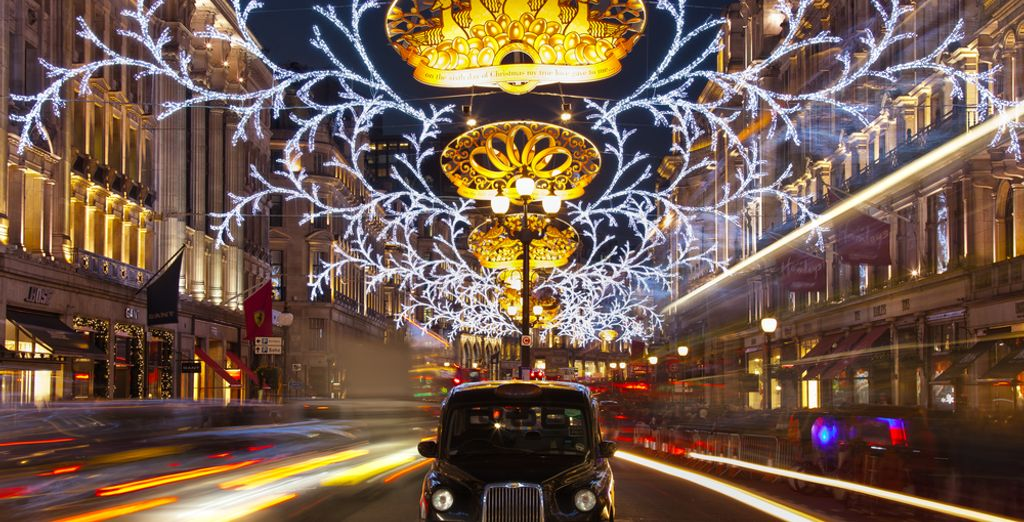 During the festive season London's streets will be creatively decorated with christmas lights