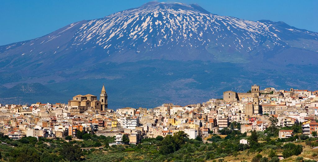 Etna proudly dominates the landscape around you - explore it with optional car hire