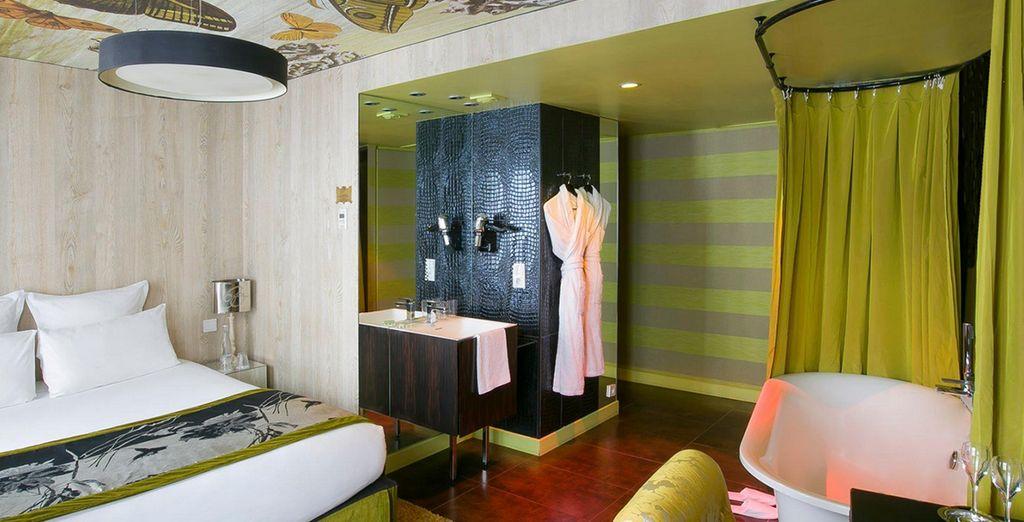 Or a vibrant Original Room....