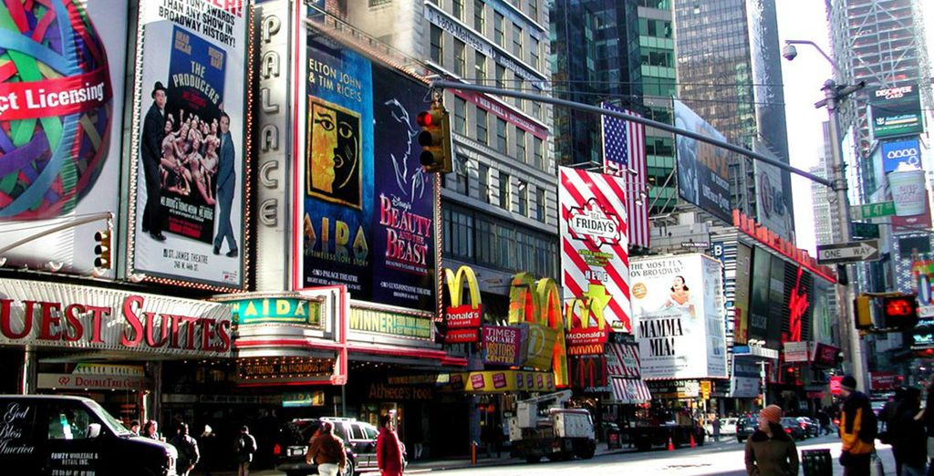 Visit the iconic Times Square
