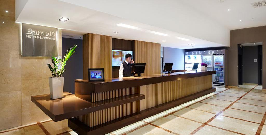 Sleek and modern interiors will greet you