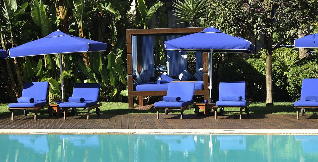 Spend your days lounging by the pool