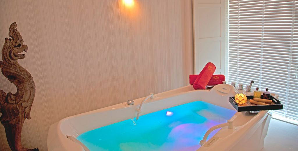 You can enjoy a free daily treatment at the spa...