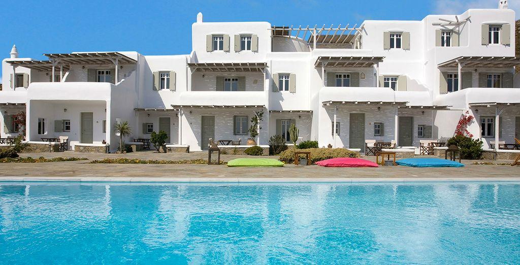 The boutique Yakinthos Residence awaits you