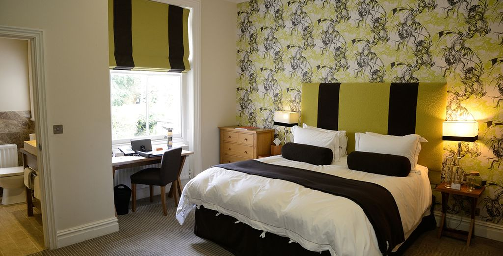 Enjoy your stay in a large double room