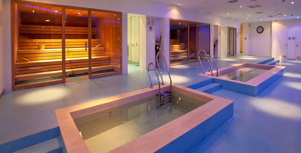 Immerse yourself in relaxation at the spa, private beach or one of the swimming pools