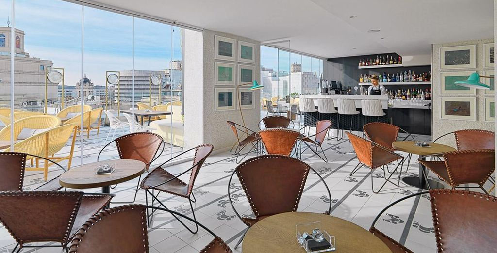 Or head up to the 8th floor bar for amazing views
