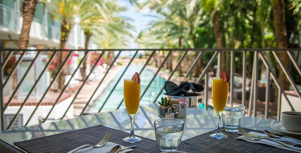 Enjoy a refreshing cocktail