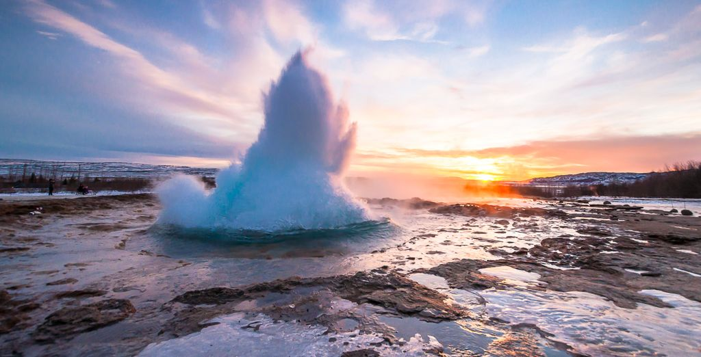 And the famous Strokkur geysers.