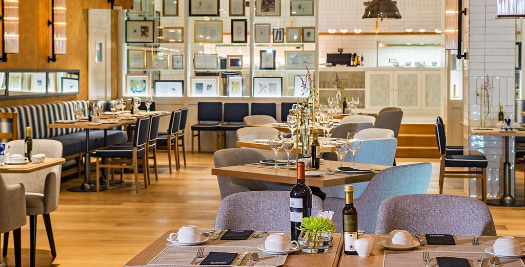 Dine in the stylish hotel restaurant