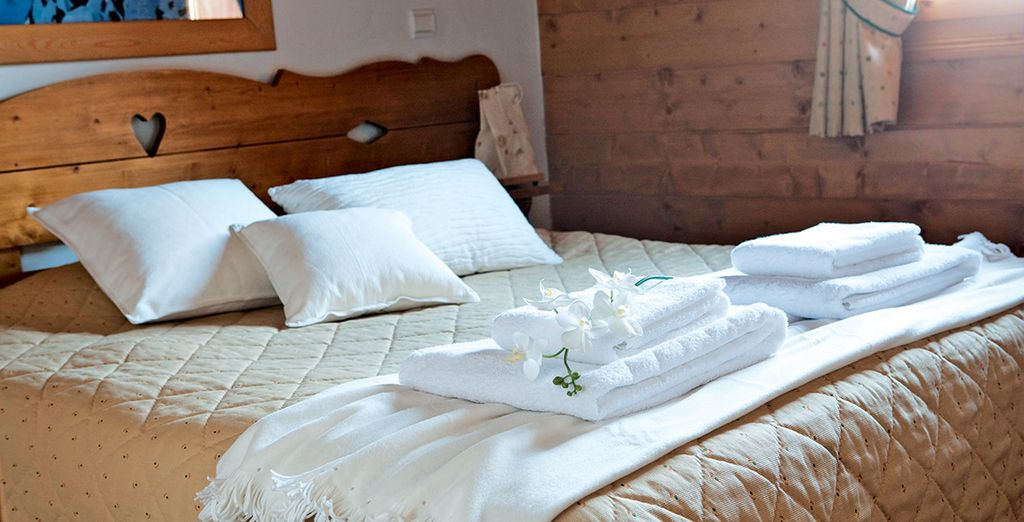 Up to six people can stay in these convivial chalets