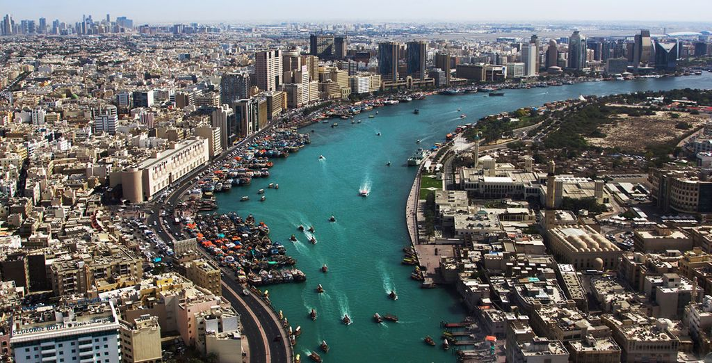 Where you will have a great view of Dubai's creek