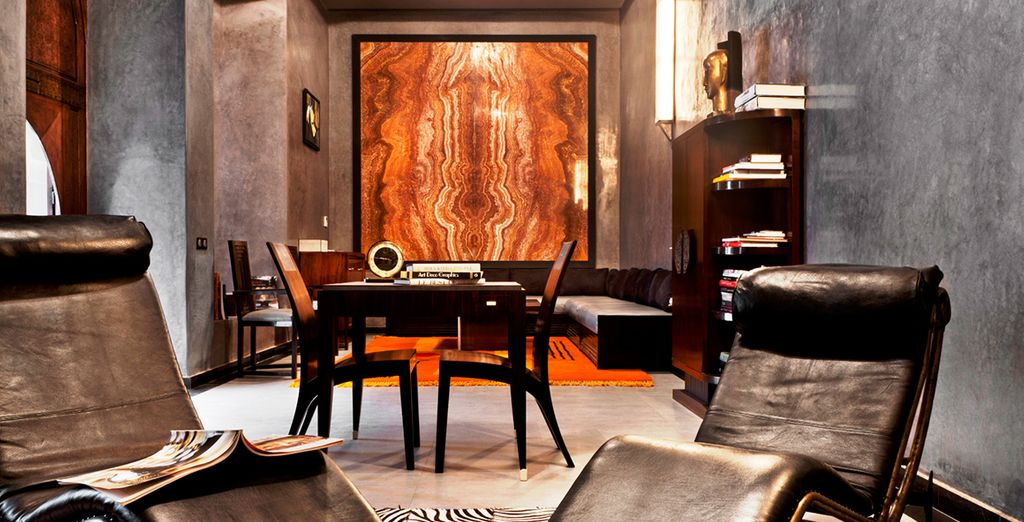 To its chic, art deco inspired interiors