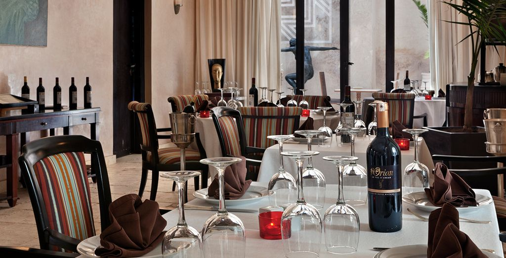 Dine on local delicacies at the restaurant