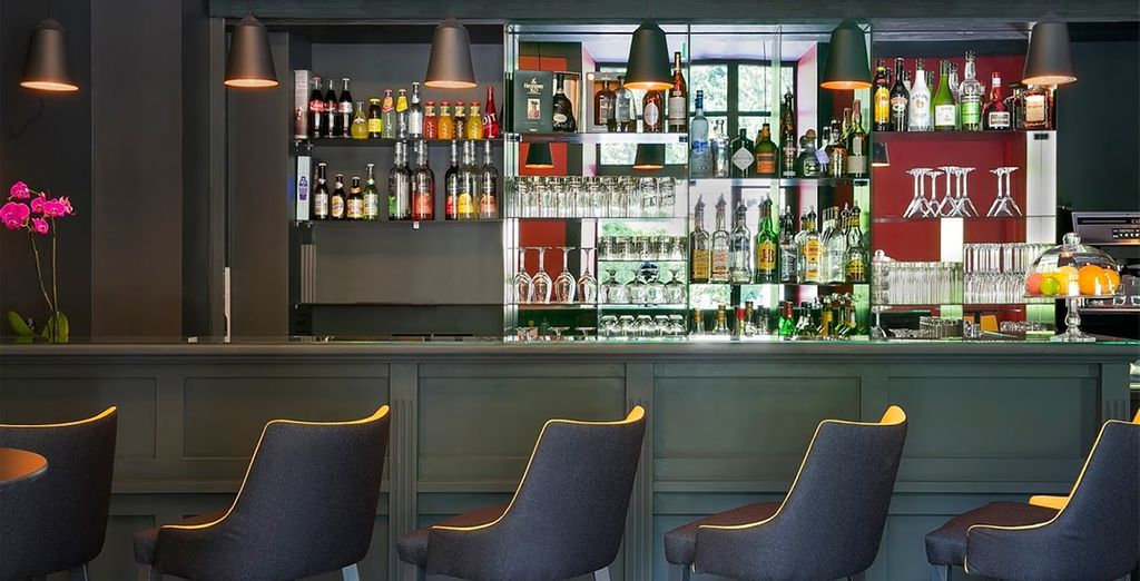 End your day with a nightcap at the stylish bar