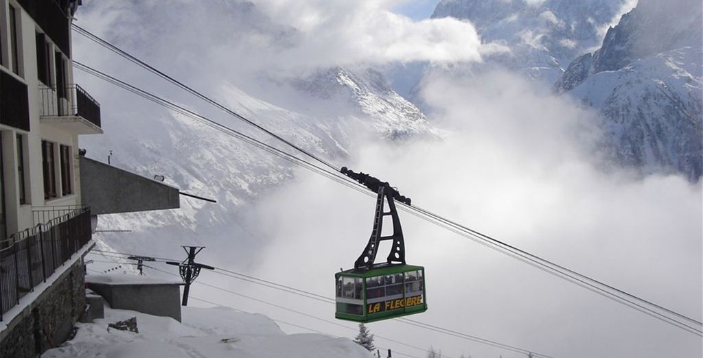 Take the hotel's free shuttle to the ski lifts
