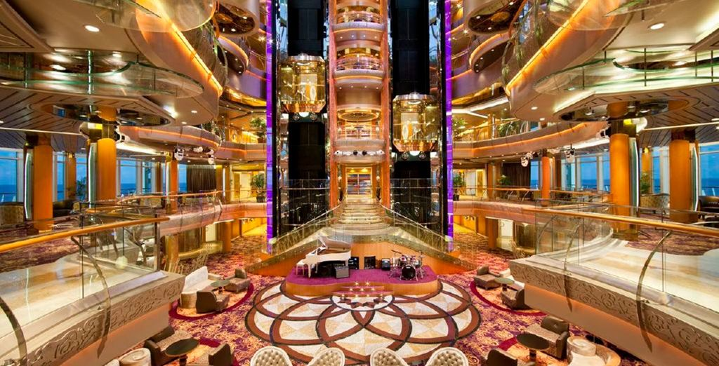 Revel in the grandeur of your 5* cruise ship