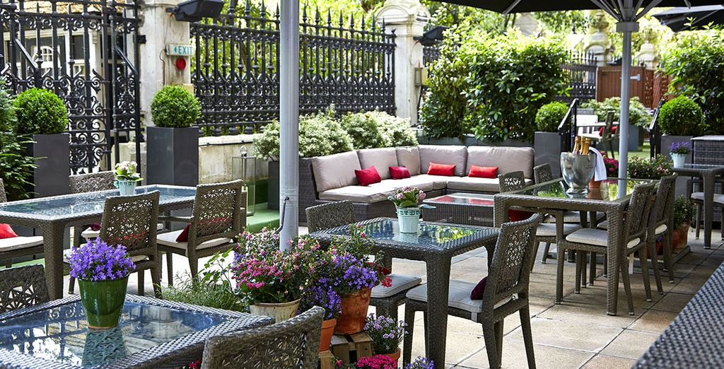 Dine outside in the warmer months....