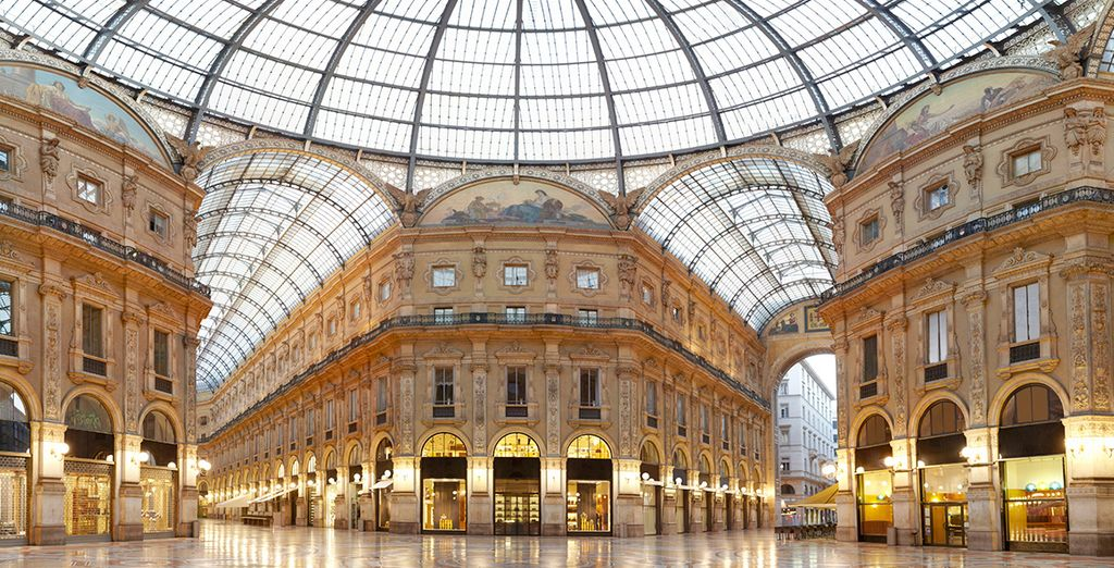 Don't miss the Galleria Vittorio Emanuele II - one of the oldest shopping malls in the world