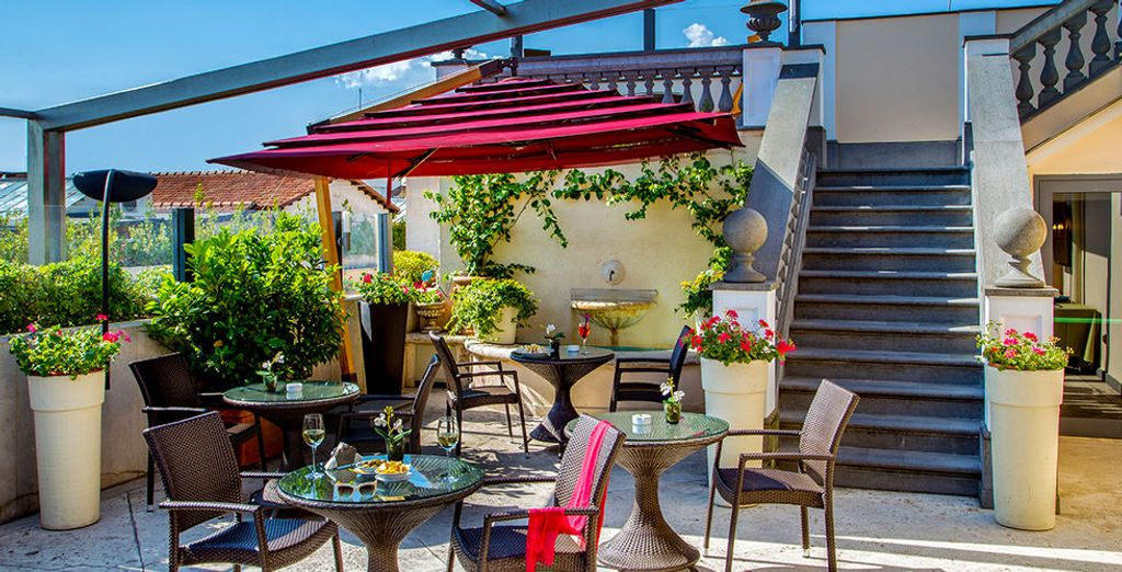 Enjoy the beautiful terrace at day..