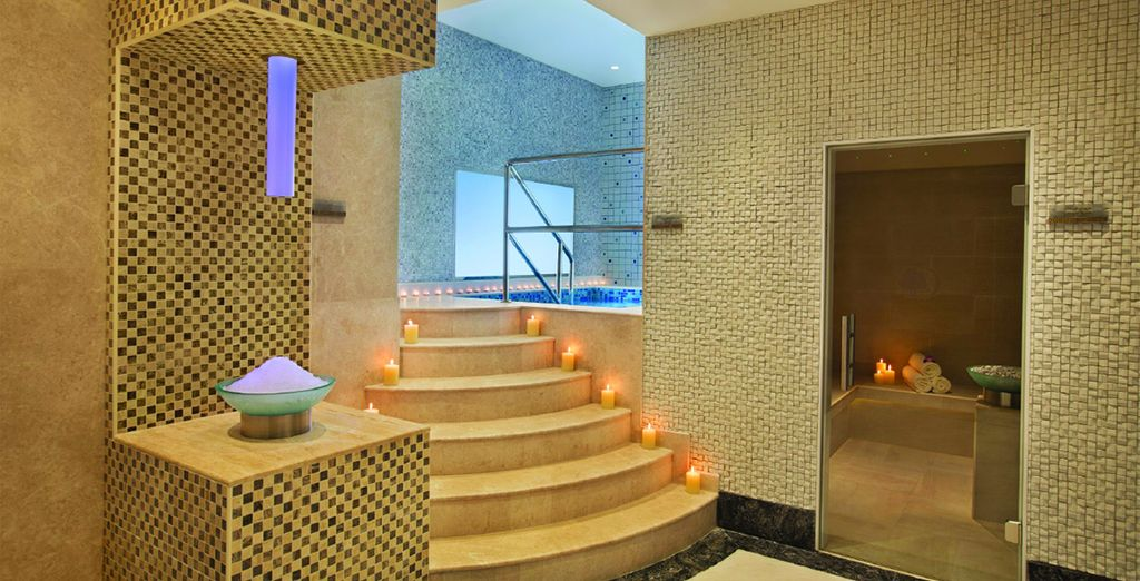 Escape the heat of the day in the luxurious spa