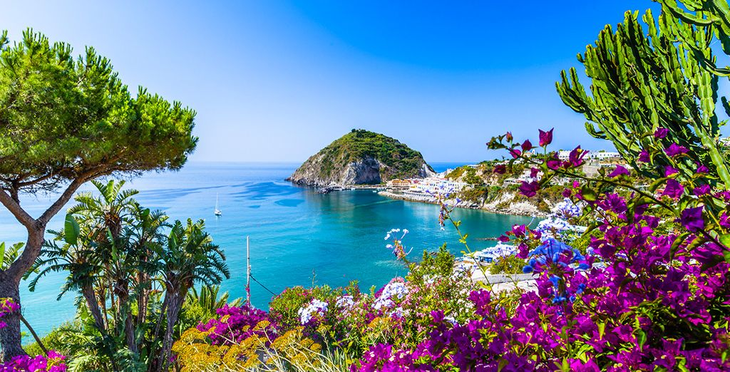 The volcanic outcrop of Ischia is the most developed and largest of the islands in the Bay of Naples
