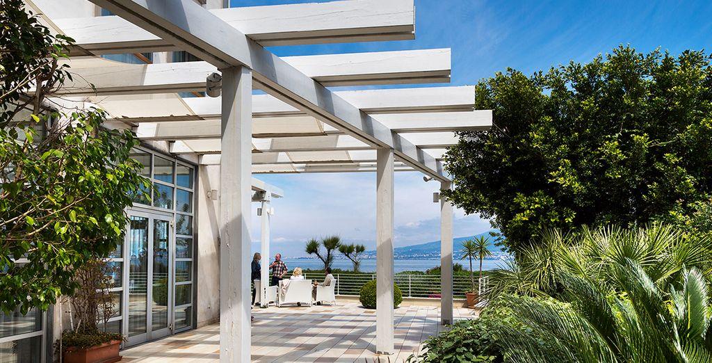 Unwind on the sun-soaked terrace for a quiet break