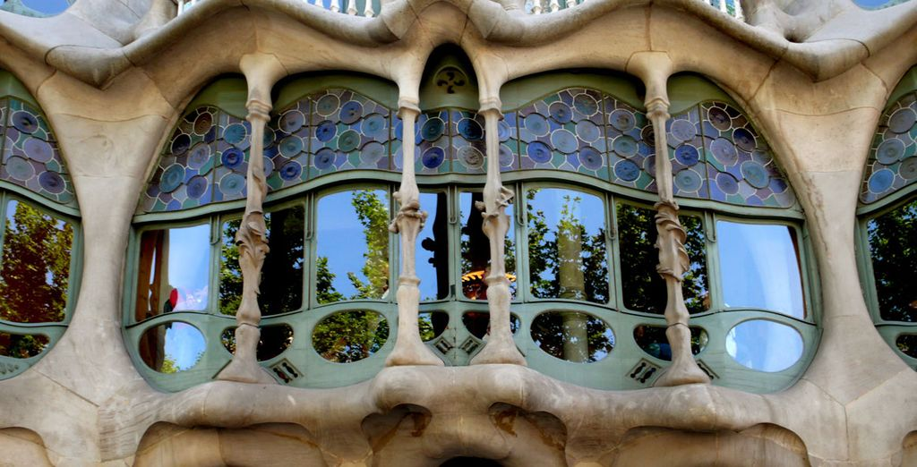 Where Gaudi architecture is ubiquitous