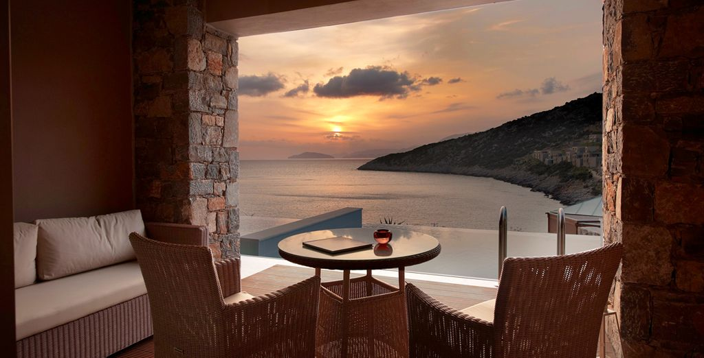 And witness the views as you sip a refreshing drink...