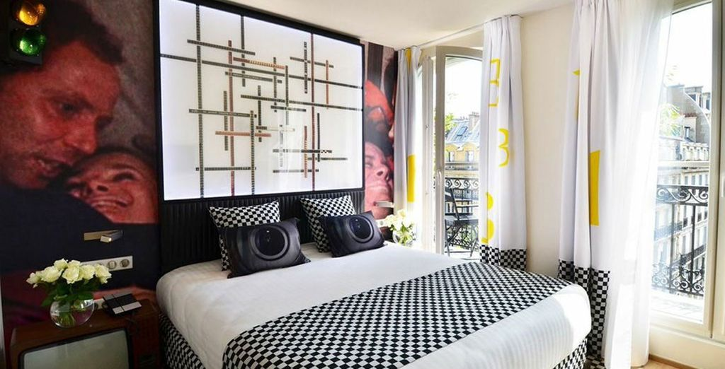 A Parisian boutique hotel with memorably themed rooms