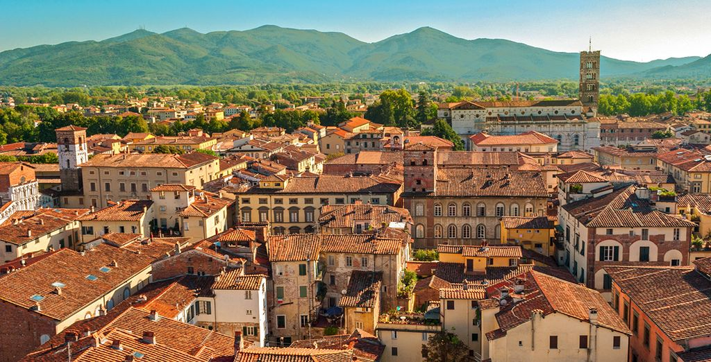 The beautiful city of Lucca is nearby