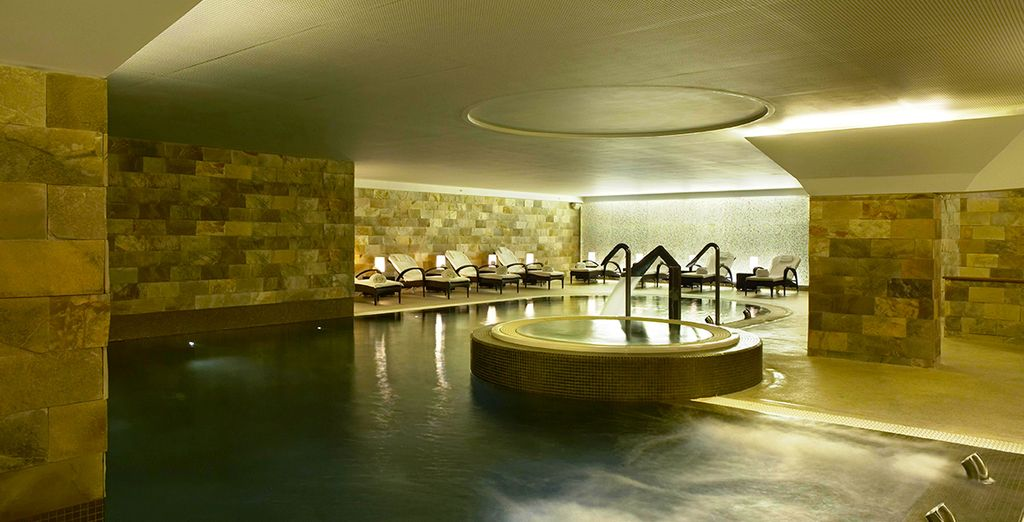 Or to the luxurious health club where you have an exclusive discount