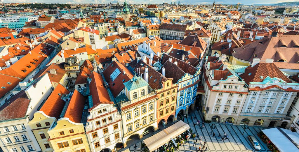 You are perfectly positioned close to the heart of Prague's old town
