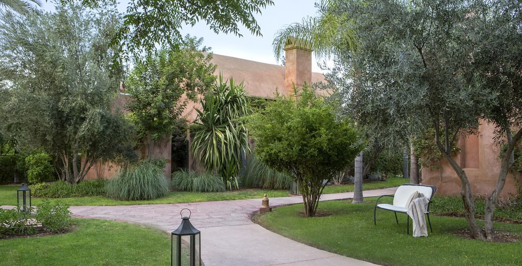Palais Aziza & Spa is surrounded by verdant grounds