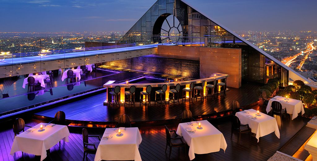 Where you will be staying at the Lebua Tower Bangkok
