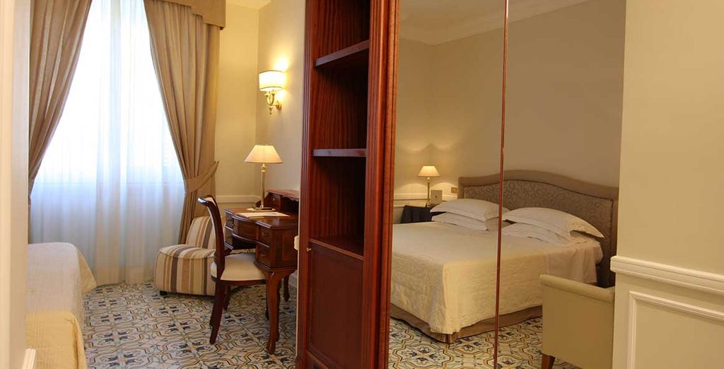 Enjoy an upgrade to a Double Room with Partial Sea Room