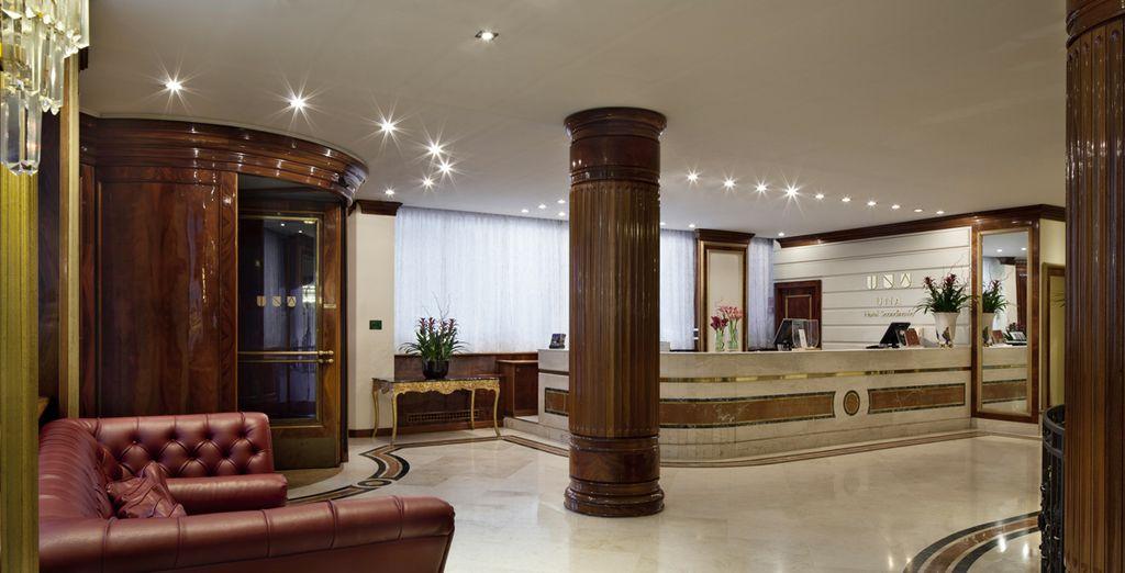 In the quiet, elegant surroundings of Hotel Una Scandinavia