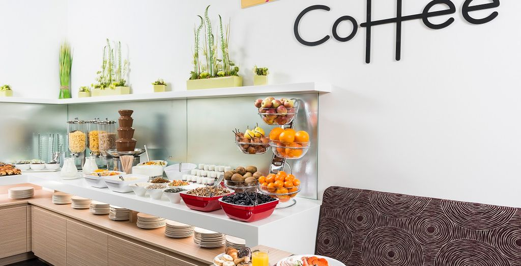 Start each day in style with a champagne buffet breakfast