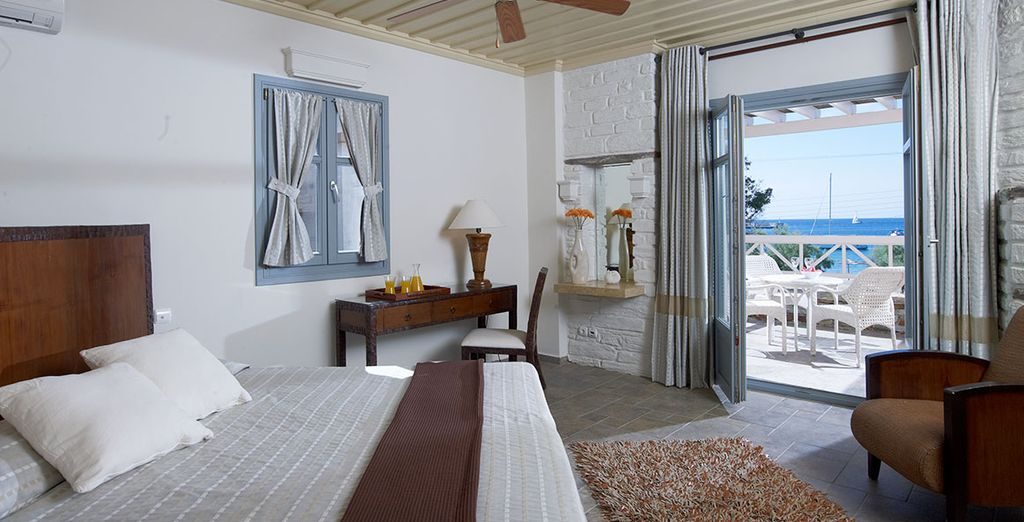 In a spacious Sea View Suite