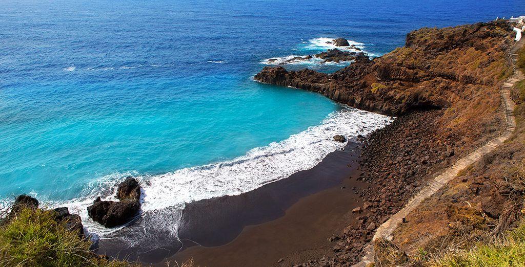 The dramatic coastline of La Palma