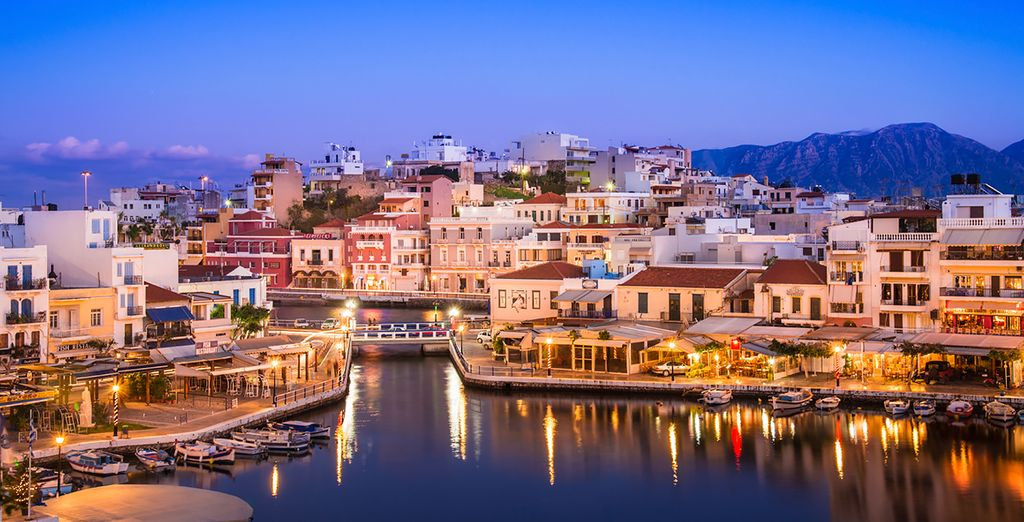 Don't miss nearby Agios Nikolaos for charming shops and sophisticated nightlife