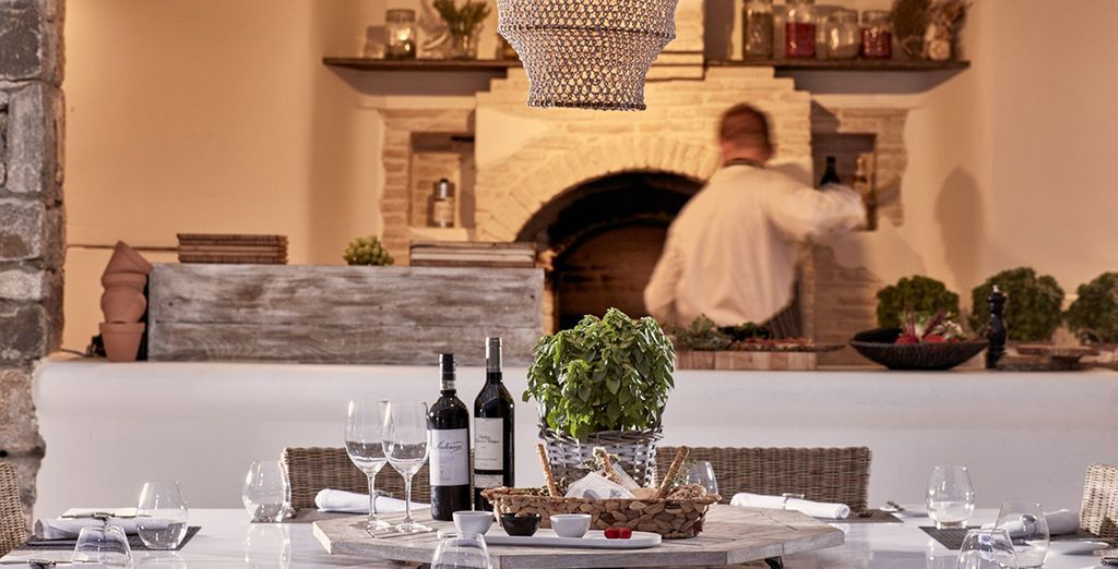 Or sit down at the Anthos Restaurant for inspired, Mediterranean influenced dishes